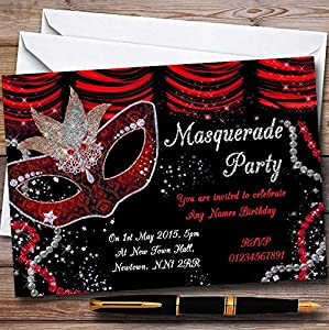 amazon com red black mask masquerade ball personalized party