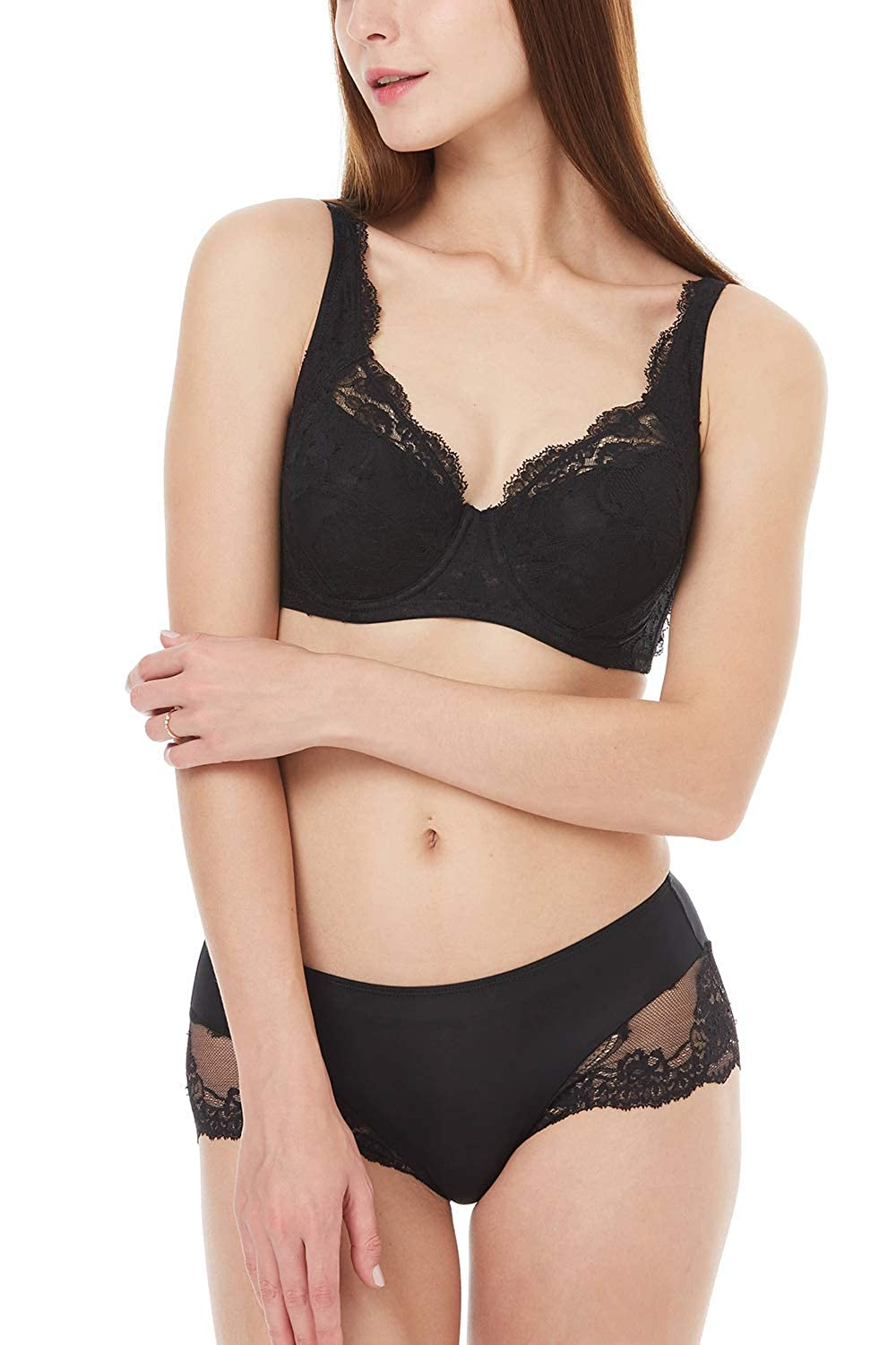 Aimer Women Lace Boyshort Panties and Stretch Low Waisted Hipster Panties for Women
