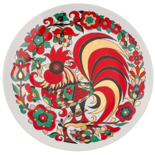 Imperial / Lomonosov Porcelain 'Red Rooster' Decorative Plate