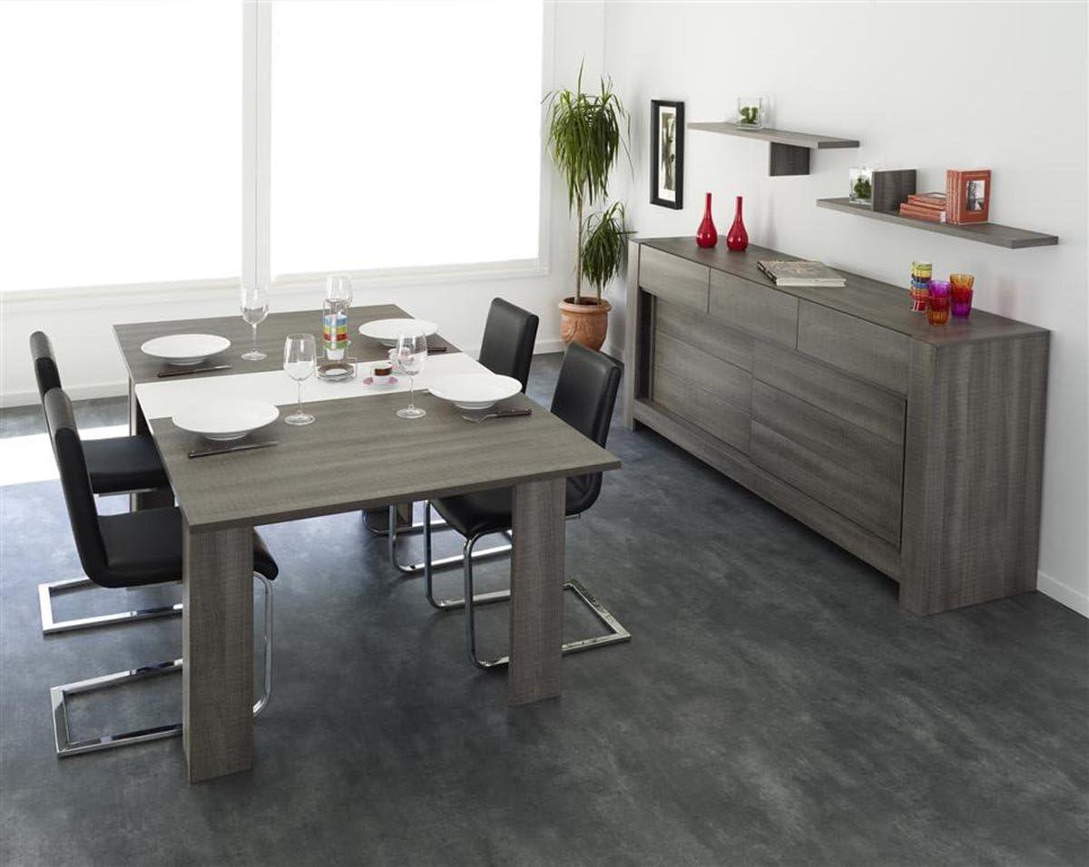 Miliboo Buffet Design 2 Ante E 3 Cassetti Legno Moca Amazon It Casa E Cucina