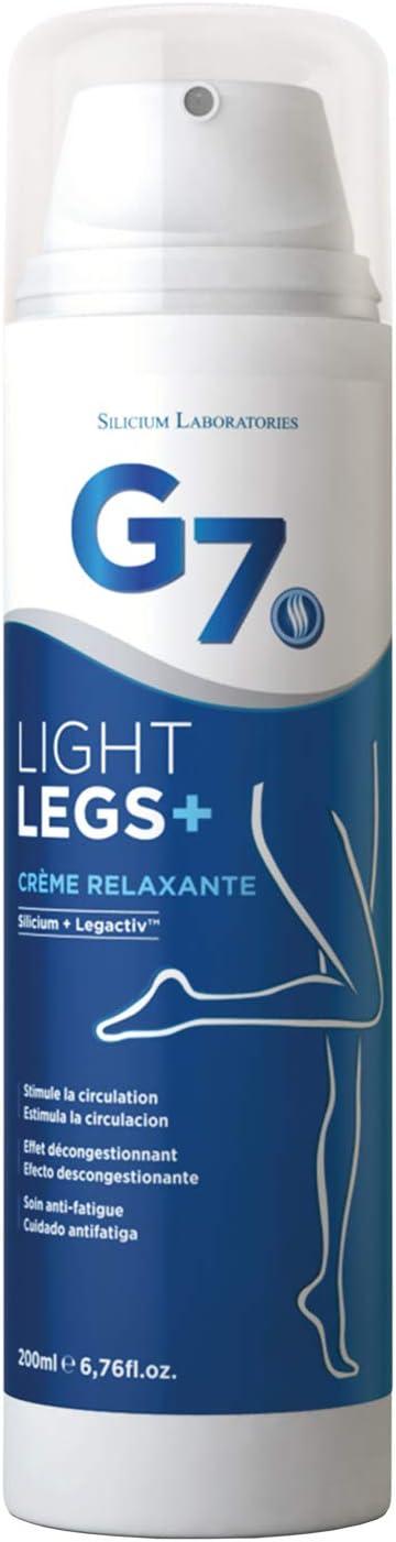 SILICIUM G7 Light-Legs | Crema ideal para varices y piernas cansadas | Gel frio que aporta alivio y descongestión de las piernas cansadas | Acción drenaje linfático