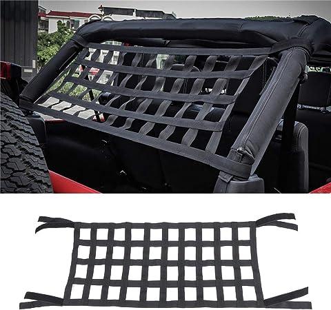 buyinhouse Cargo Net Extra Storage Restraint Fit for Jeep Wrangler TJ JK 1997-2017