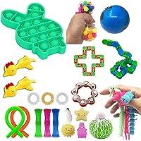 TiKiNi Zintuiglijk Fidget Toys Set, Decompressie educatief speelgoed Relief voor Stress, autisme ADD en ADHD Stretchy…
