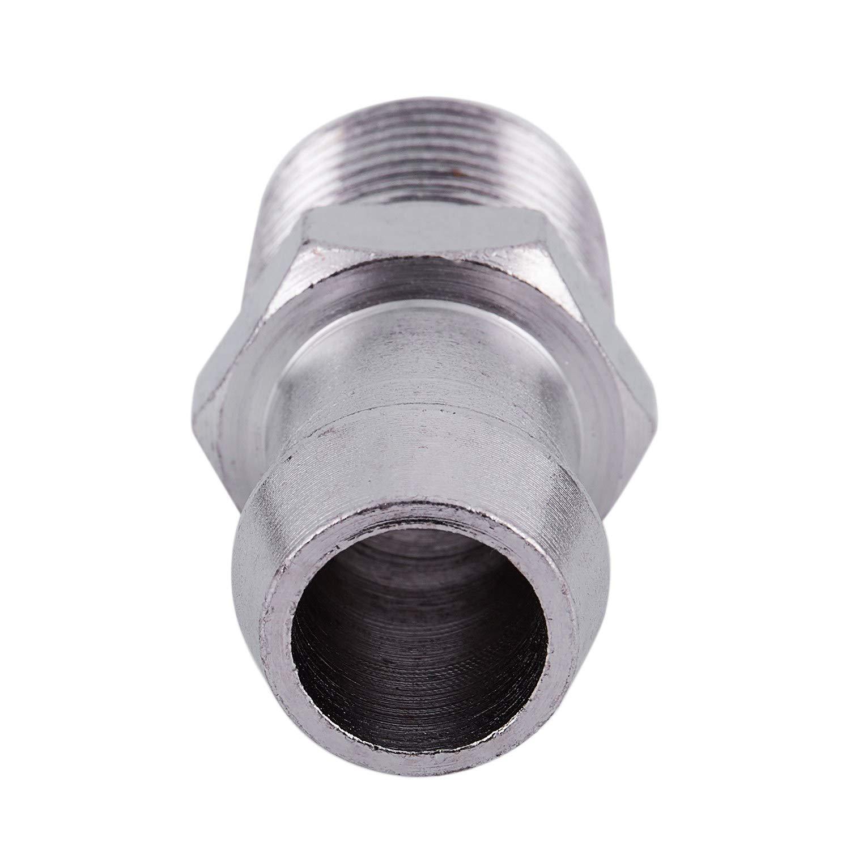 Chevy 1//2 NPT 5//8 Barb Chrome Steel Fitting Intake Manifold Heater Hose SBC A4
