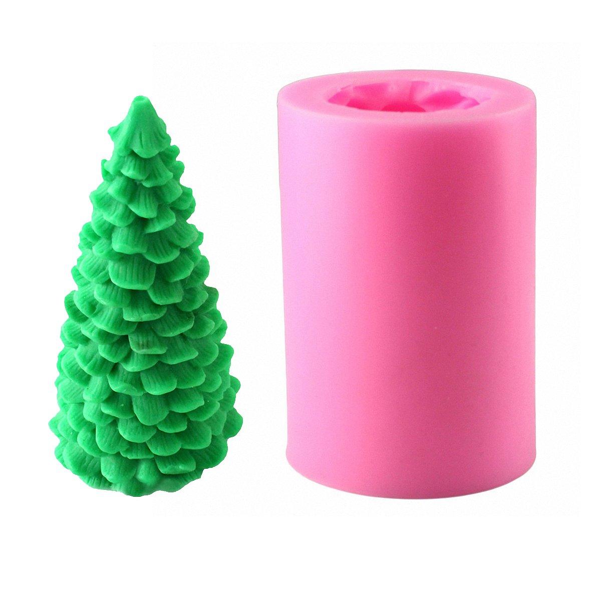 Amazon.com: 3D Christmas Tree Candle Mold - MoldFun Christmas Party ...