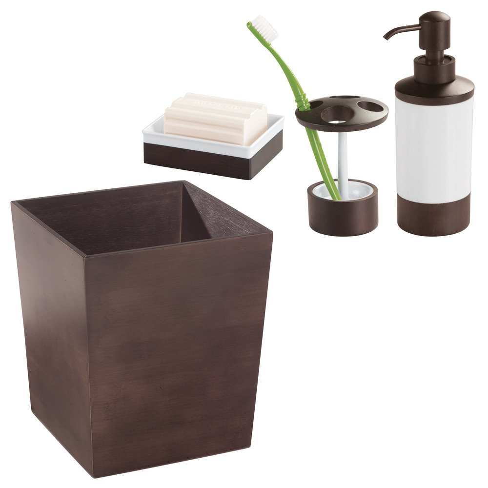 Amazon.com: InterDesign Formbu Toothbrush Holder Stand for Bathroom Vanity Countertops: Home & Kitchen