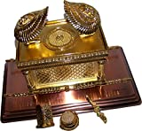 The Ark Of The Covenant Gold Plated with Ark Contents replica ( Aaron Rod, Tablets and Manna ) - Large