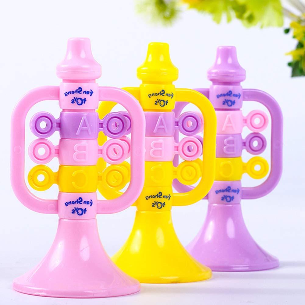 Jouet Musical Instrument de Musique Trompette en plastique Professionnel Trompette Sifflet Instruments de Musique Puzzle /Éducation Pr/écoce Jouets B/éb/és et Jeunes X 1 Couleur Al/éatoire