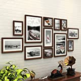 WollWoll European Style Black and White Scenery Pictures Wood Photo Frame Set (175 cm x 2 cm x 70 cm, Brown)