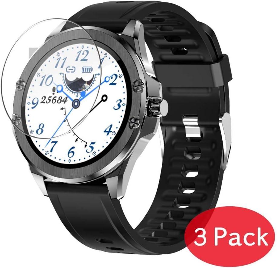 VacFun 3 Piezas Vidrio Templado Protector de Pantalla para Smartwatch Smart Watch S11, 9H Cristal Screen Protector Sin Burbujas, Alta Definición Película Protectora Reloj Inteligente Pulsera