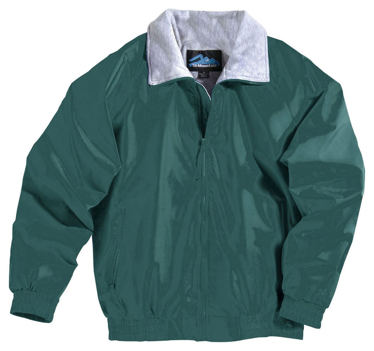 Tri-mountain Nylon jacket with jersey lining. - FOREST GREEN - Large