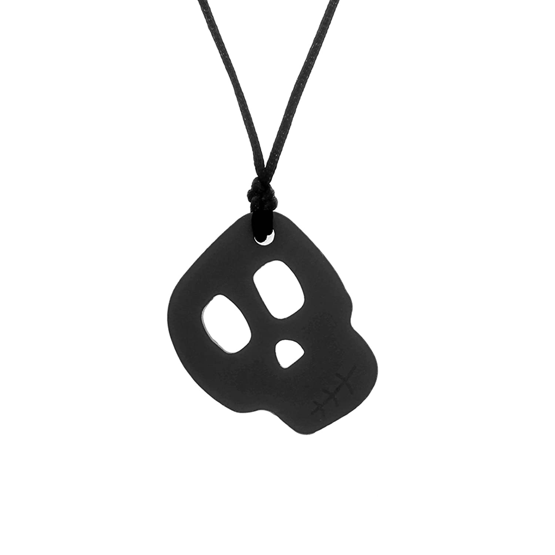 Amazon Skull Pendant Bandit Chew Necklace for Sensory