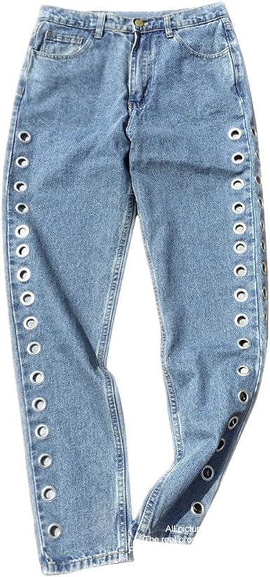 Dangyin Jeans Cintura Alta Jeans Boyfriend Denim Jeans Mujeres Pantalones Jeans Mujer Para Mujer Amazon Es Ropa Y Accesorios