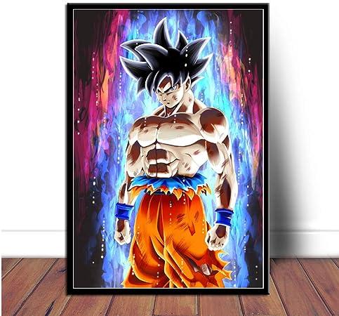 Impression Sur Toile 1 Panneaux Impression Wall Art Tableaux Dragon Ball Z Super Saiyan Goku Vegeta Pour La Decoration De La Salle De Sejour Pas De Cadre B 60x90cm Amazon Fr Cuisine Maison