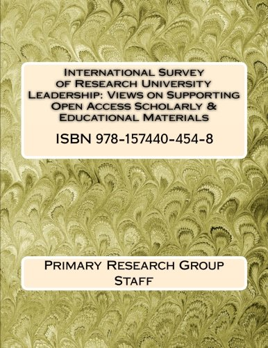 International Survey of Research University Leadership: Views on Supporting Open Access Scholarly & Educational Materials