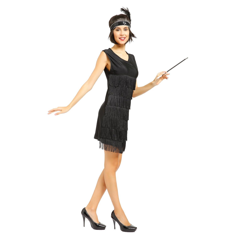 20er Jahre Fransenkleid Flapper Kleid Club Latein Tanz kleid ...