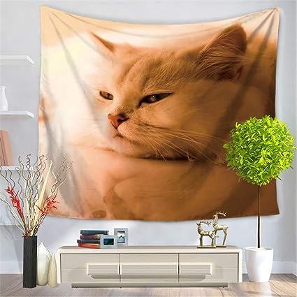 Personalidad Creativo Tapiz de impresión Digital/Moda Gato Mascota Toalla de Playa,COJÍN Mantel