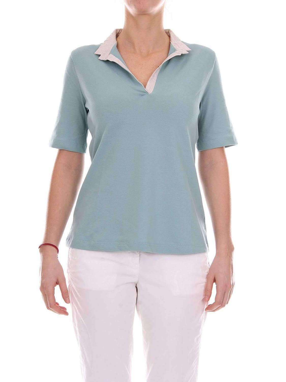 La Fileria Women's 6026882791883 Light bluee Cotton Polo Shirt