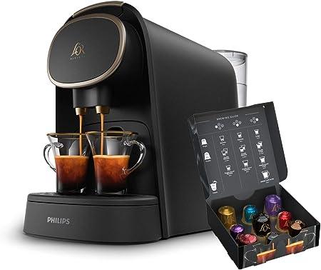 Philips LOR Barista LM8016/90 - Cafetera compatible con cápsula individual/doble, 19 bares presión, depósito 1L, acabado Premium: Amazon.es: Hogar