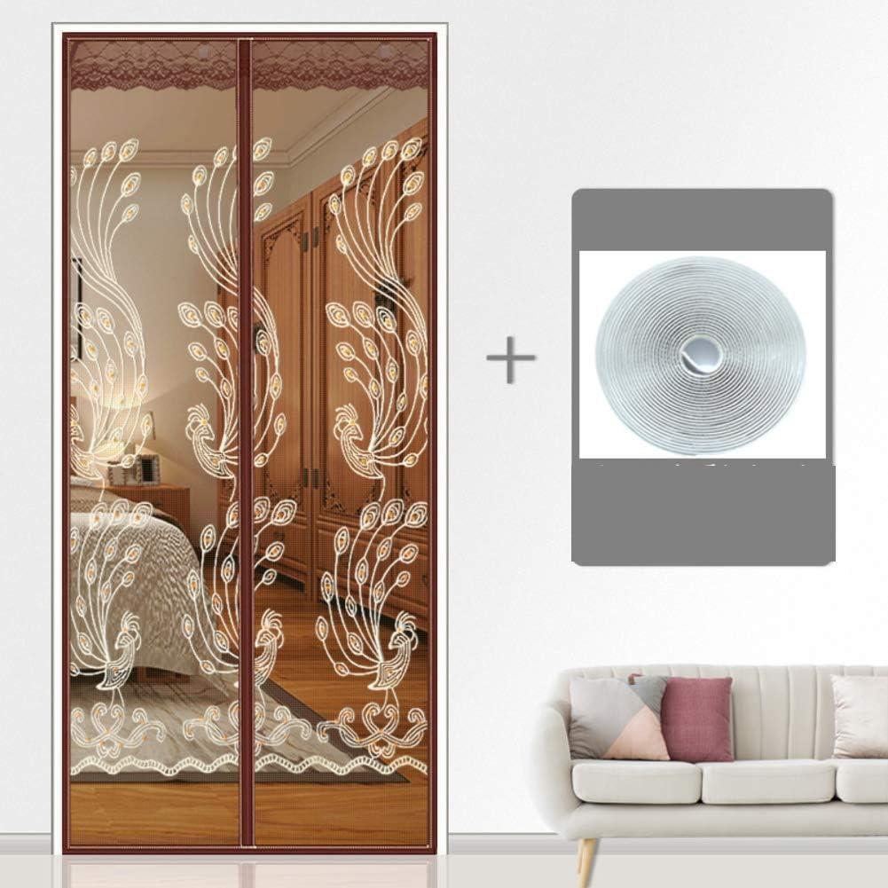 KE & LE Verano Mosquito Cortina Mosquitera Magnética para Puertas, Auta-Adhesivo Casa Cocina Dormitorio Pantalla Partición Puerta De Pantalla del Silencio-b 80x220cm: Amazon.es: Hogar