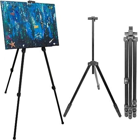 Caballete para pintores de eyepower | Trípode de aluminio para sujetar exponer pintar cuadros | Armazón de tres pies para sostener lienzos ajustable ...