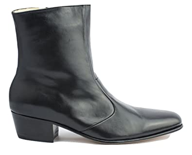 9368a7fab80 Image Unavailable. Image not available for. Color: Luciano Mens Black Boots  Leather for Elvis Tribute Artists ...