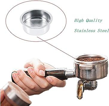 Cesta de filtro de caf/é de acero inoxidable de 54 mm apto para cafetera Breville filtro de pared simple no presurizado