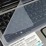 niceeshop(TM) Couverture de Peau Clear White Universal Silicone Keyboard Protector pour 14 Pouces pour Ordinateur Portable Notebook