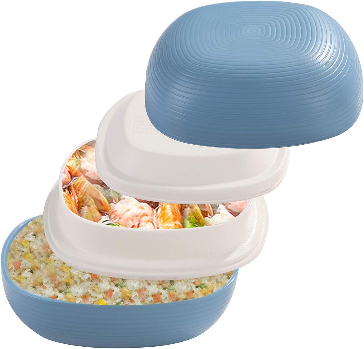 Fiambrera Compartimentos-Certificado LFGB//Certificado FDA//BPA Gratis//lavavajillas(Blanco) BaoWnylz Lunch Bento Box,Fambrera Infantil