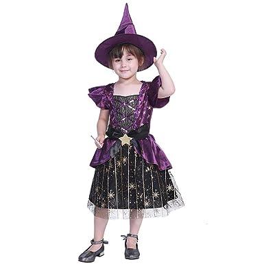 JUNERAIN Cute Kid Girls Costumes Stars Trajes de Bruja Halloween ...