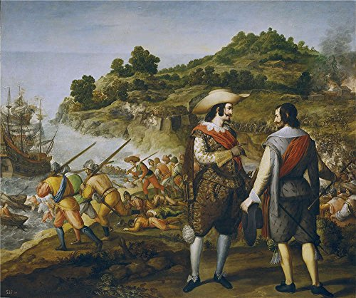 'Cajes Eugenio Recuperacion De San Juan De Puerto Rico 1634 35 ' Oil Painting, 30 X 36 Inch / 76 X 91 Cm ,printed On Polyster Canvas ,this Beautiful Art Decorative Canvas Prints Is Perfectly Suitalbe For Study Decoration And Home Decor And Gifts for $<!--$41.86-->