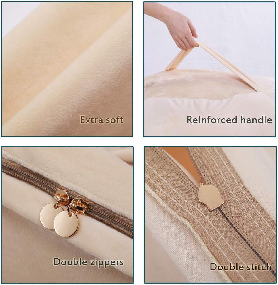 MOVKZACV Puf de almacenamiento de relleno para nido de p/ájaros para organizar a los ni/ños juguetes de felpa de pana suave sin relleno