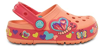 sports shoes 29b9d 86bb2 Crocs CLightBflyClgPS Unisex-Kinder Clogs