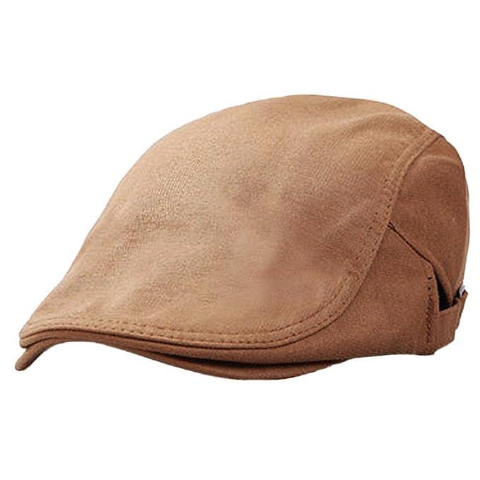 Panegy - Sombrero de Boina Bombines con Visera Corta Beret de Hombre Gorro Gorra  de Boina para Golf Taxista Casquillo Caballero Vintage - Marrón  Amazon.es   ... c5efd8eecec