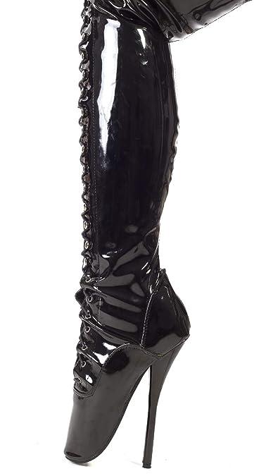 d080db621cf7 Kassiopeya Lack Ballett Overknee High Heels schwarz,weiß oder pink   Amazon.de  Schuhe   Handtaschen