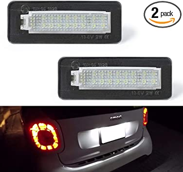 NEWEST Premium 18-SMD License Plate Light Lamps For Ford Fusion Fiesta Mondeo