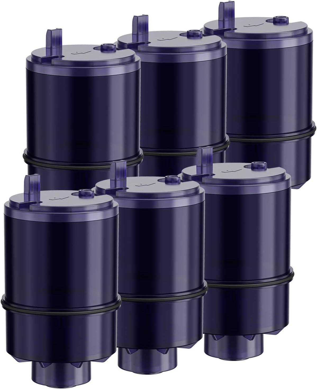 Pack of 6 Fil-fresh RF-9999 Faucet Mount Water Filter Replacement for Pur RF-9999 PFM450S PFM350V PFM100B FM-9400B FM-3333 Classic Faucet Mount Filter Filtration System