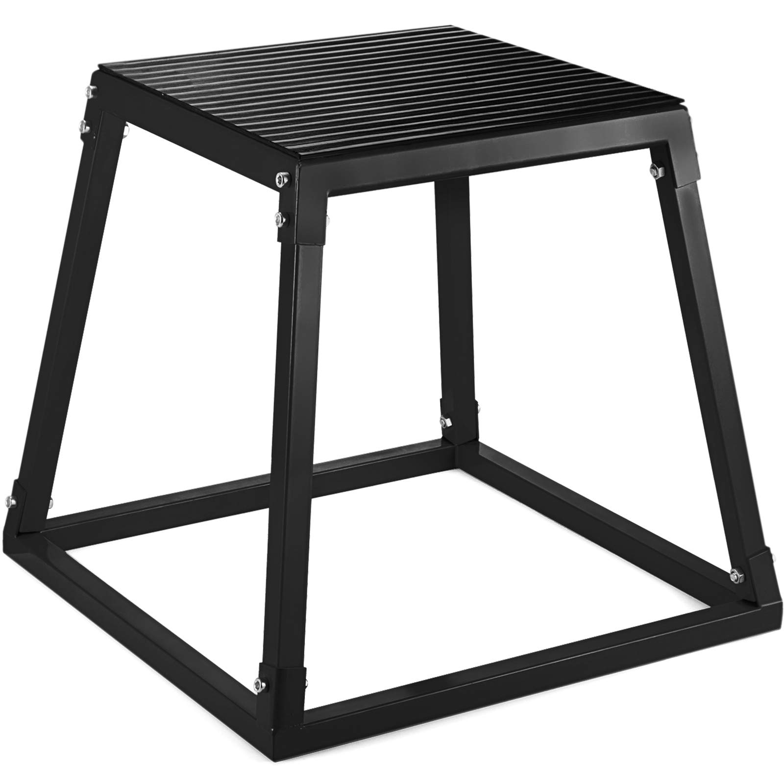 VEVOR Plyometric Box Height of 18'' Jumping Box for Crossfit, Jump Exercise (18'',Black)