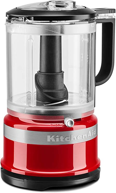 KitchenAid 5KFC0516 - Robot de cocina (1, 19 L, Negro, Rojo, Botones, palanca, 3450 RPM, 0, 83 L, Mezcla, Mezcla, Puré): Amazon.es