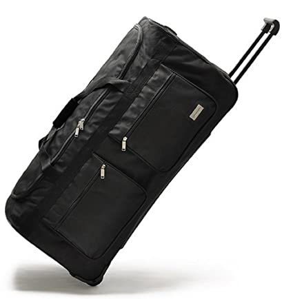 ed492b48d49e Wheeled Holdall Trolley Hand Luggage Travel Bag Suitcase Large (34 ...