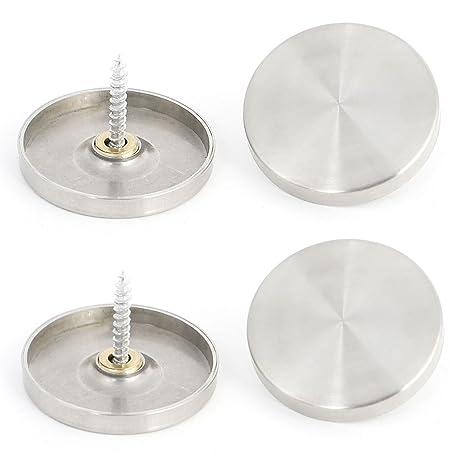 4 piezas 40 mm acero inoxidable tapas para clavos espejo ...