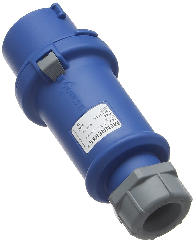 Blue MENNEKES 151A Split Body Plug 9 hours Earth Position IP 44 Protection 16 A Current 230V 4 Pole