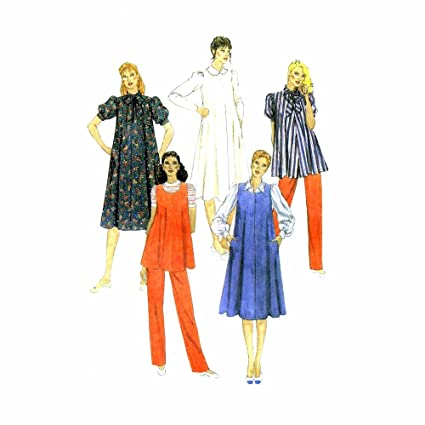 c38a864985d90 Image Unavailable. Image not available for. Color: 1980s Maternity Dress  Blouse Jumper Top Pants McCalls 7838 Vintage Sewing Pattern ...