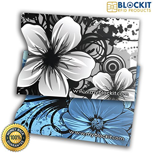 BLOCKIT Passport Protector Sleeves - Best for RFID Blocking, Travel Security and Fraud Protection - Designer Set of 2 - Includes 2016 ID Theft Protection eBook - Recommended by Lifelock