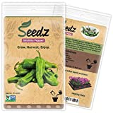 CERTIFIED ORGANIC SEEDS (Appr. 55) - Shishito Pepper Seeds - Open Pollinated Vegetable Seeds - Organic, Non Hybrid Garden Seeds - USA
