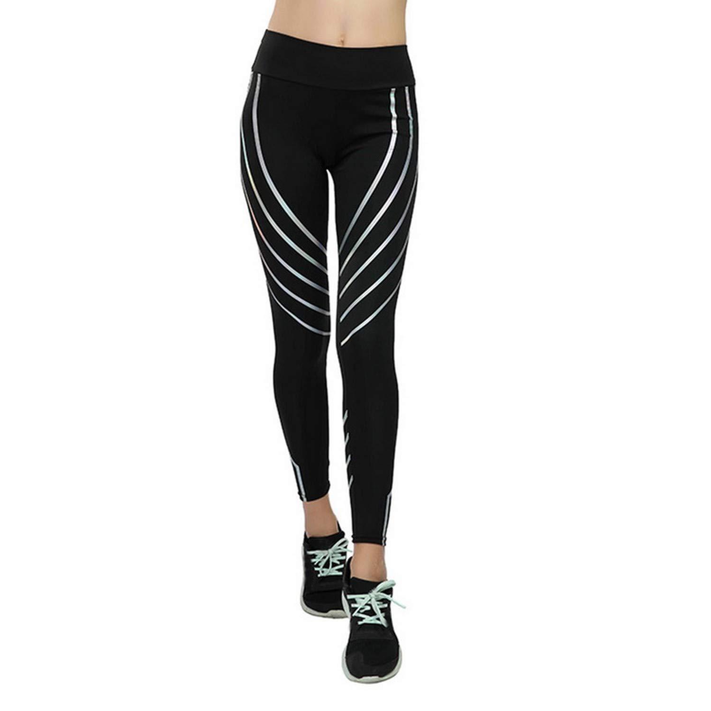 2a5756e3e97e87 Be fearless 2019 Woman Fitness Leggings Light High Elastic Shiny Leggins  Workout Slim Fit Women Pants at Amazon Women's Clothing store: