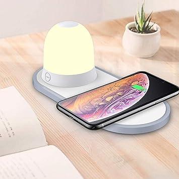 TactileRgb Chevetamp; Sans Wireless Charger lampe De Chargeur Fil À LumièresStation Portable Changer Qi Les Charge Commande lampe K3lc1TFJ