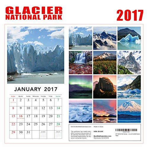 2017 Glacier National Park Calendar - 12 x 12 Wall Calendar - 210 Free Reminder Stickers Photo #4