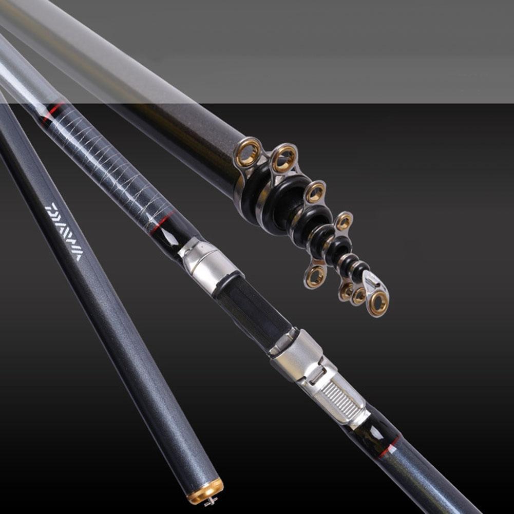 Huwai Tragbare Leichte Teleskoprute Angelrute Kohlefaser Salzwasser und Süßwasser 4.5M 5.4M