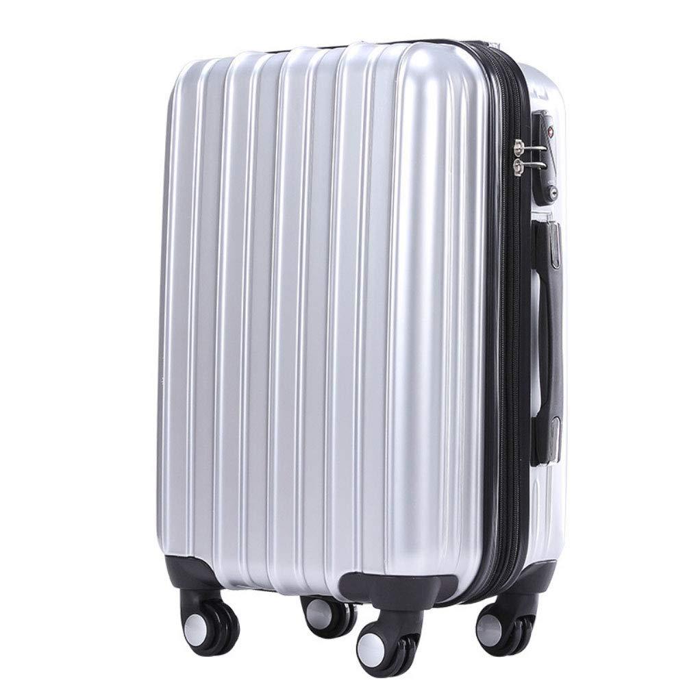 トロリー箱の男女兼用のスーツケースの普遍的な航空機の車輪の荷物の搭乗箱 (Color : シルバー しるば゜, Size : 24 inches)   B07RKG9X34